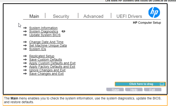 BIOS-HP-emulateur